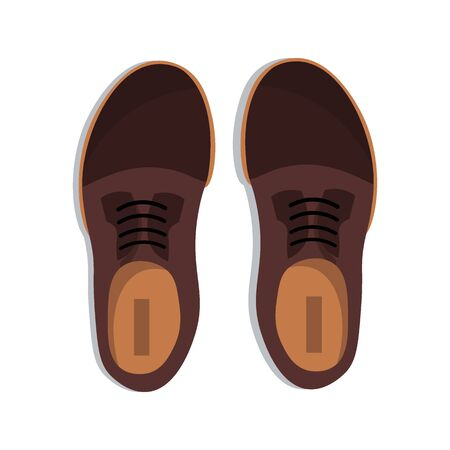 Mens classic Shoes on white background. Vector illustration Ilustração