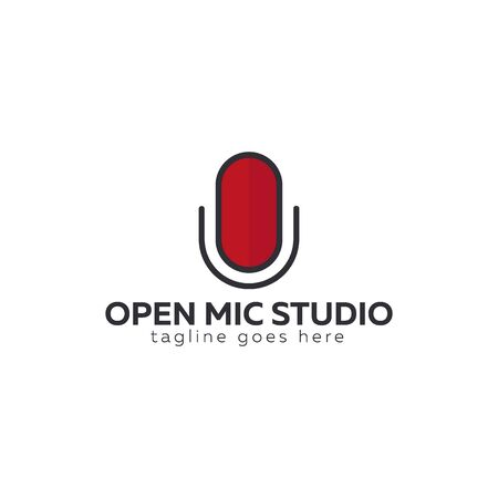 Mic   for Radio or Podcast Studio, Microphone icon.