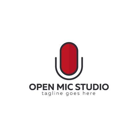 Mic   for Radio or Podcast Studio, Microphone icon.