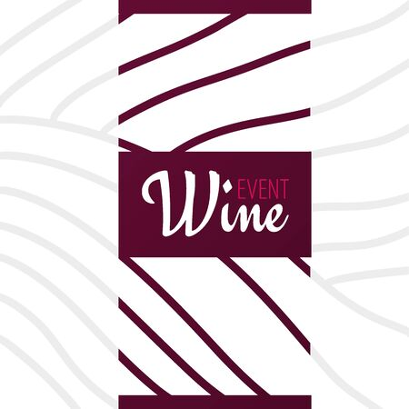 Rows of vineyards. Templates of Wine banner. Brochures, posters, invitation cards, promotional banners, menus, book covers Illustration