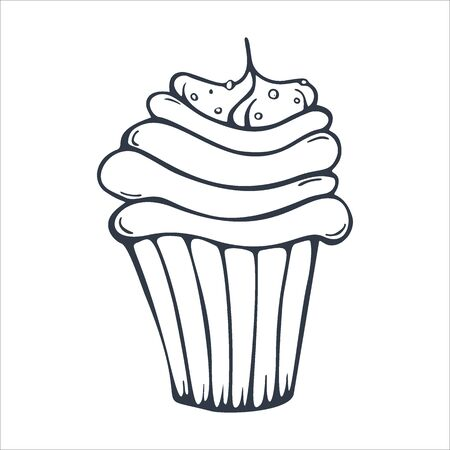 Sketches Cupcake or Cake for Bakery and pastry.