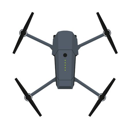 Drone or Quadcopter with camera for photography or video surveillance.