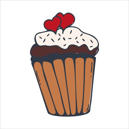 Sketches Cupcake or Cake for Bakery and pastry