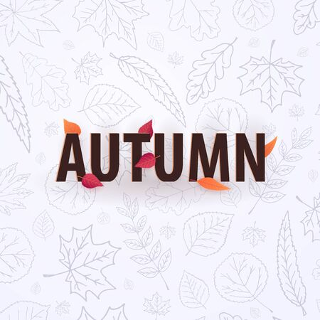 Autumn background with leaves for shopping sale or promo poster and frame leaflet or web banner and social media