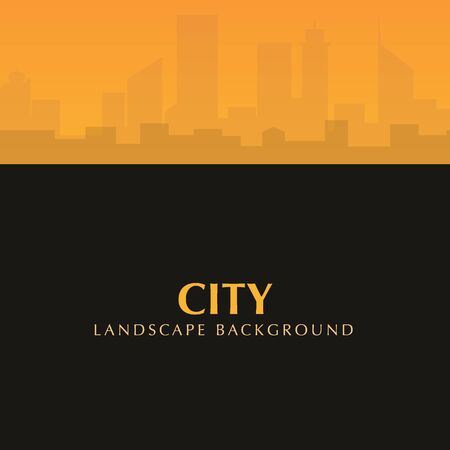Beautiful Urban City Landscape with sunset sky.