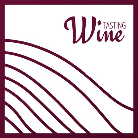 Rows of vineyards. Templates of Wine banner. Brochures, posters, invitation cards, promotional banners, menus, book covers Stock Illustratie