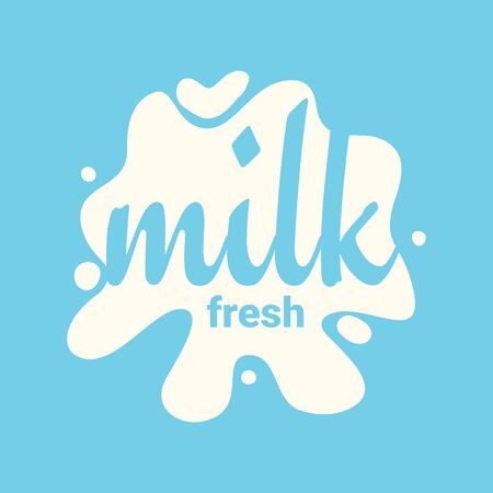 Fresh Milk. Splash and blot design, shape creative illustration. Illustration