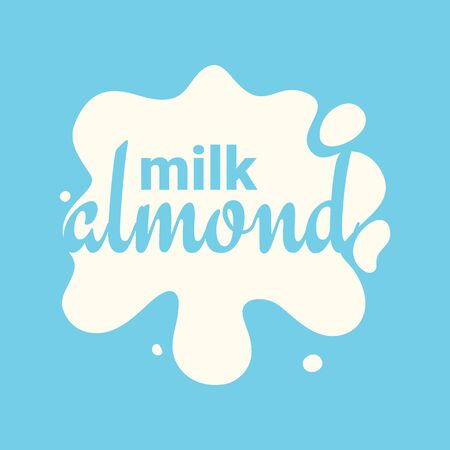 Almond Milk. Splash and blot design, shape creative illustration. Illustration