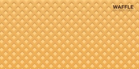Colorful Wafer texture sweet food background. Ice cream waffle.