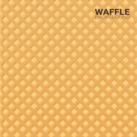 Colorful Wafer texture sweet food background. Ice cream waffle