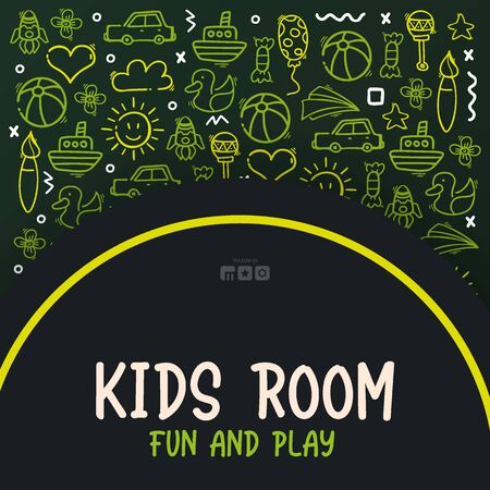 Hand draw Kids doodle background. Objects from a childs life. 일러스트