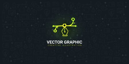 Vector Graphic. Background with doodle design elements. Иллюстрация