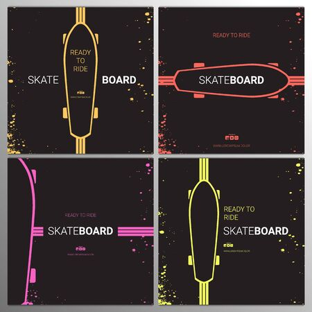 Skateboarding Vintage design. Grunge background. Sport typography, t-shirt graphics, poster, print, postcard.