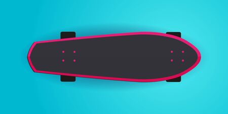 Modern Skateboarding illustration. Colorful Skate Board banner.