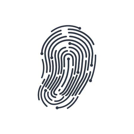Tecnologia dell'impronta digitale. Iscriviti. Illustrazione di vettore.