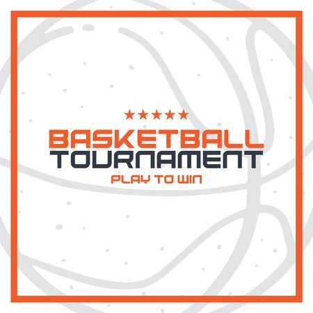 Basketball Tournament banner. Modern sports posters design.