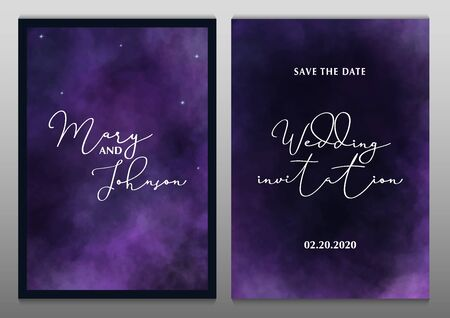 Wedding Invitation. Save the Date. Poster with cloudy background. Stock fotó - 137874353