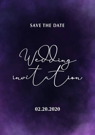 Wedding Invitation. Save the Date. Poster with cloudy background. Stock fotó - 137874354