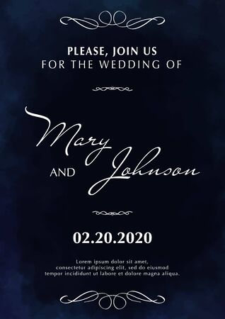 Wedding Invitation. Save the Date. Poster with cloudy background. Stock fotó - 137874356