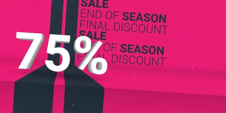 Sale creative banner. Final Discount. Template Design