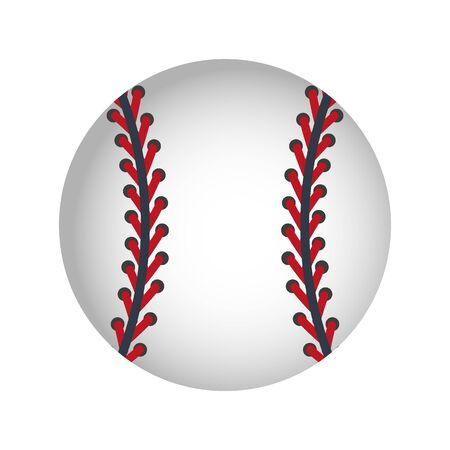 Baseball ball on a white background. Vector Illustration. Illusztráció