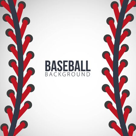 Baseball lace background on a white background. Vector illustration.