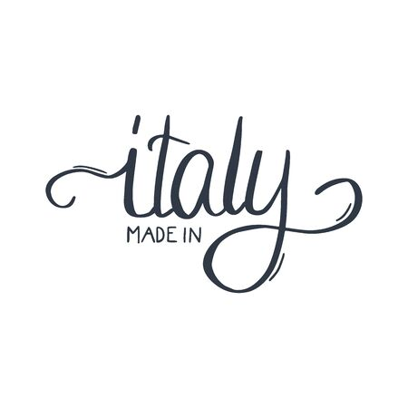 Italy hand draw lettering. Italian qoute. Vector illustration. Ilustrace