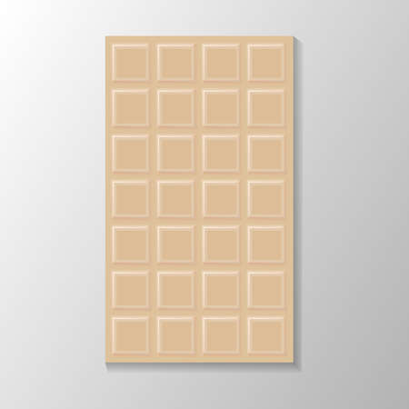 Milk Chocolate bar. Food Design Elements. Flat Vector illustration.