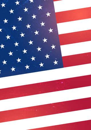 Background with USA flag. Vector grange illustration.