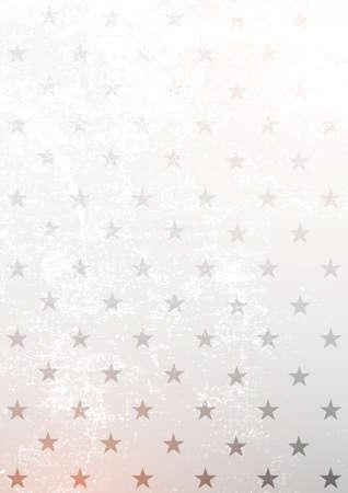 White background with stars. Vector grange illustration. 스톡 콘텐츠