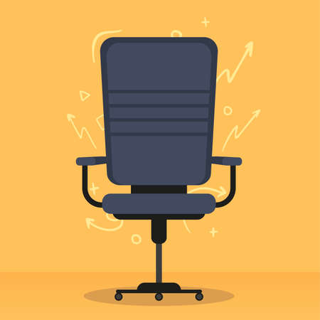 Office chair. Open Vacancy concept. Vector flat illustration.