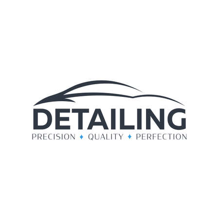 Auto Detailing. Car Wash logo. Cleaning Car, Washing and Service. Vector logo with auto. 스톡 콘텐츠 - 152107669