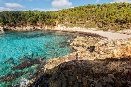 escorxada beach, abandoned paradise beaches during spring and summer in Menorca, a Spanish Mediterranean island, after the covid 19 coronavirus crisis