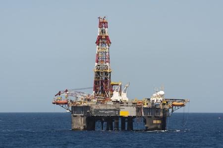 Offshore drilling rig.  Campos Basin, Rio de janeiro state, Brazil. photo