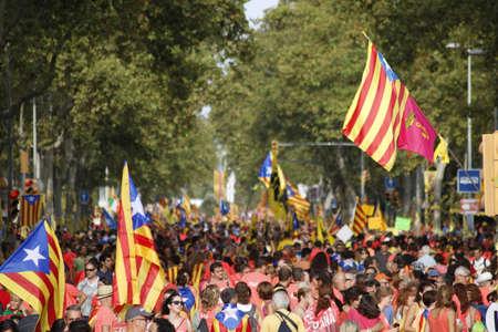 Manifestation for the National Day of Catalunya (Diada) 2018 Imagens