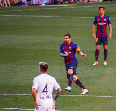 Match between FCBarcelona and Boca Juniors for the Joan Gamper Cup Barcelona, Catalonia / Spain - 08 15 2018 Editorial