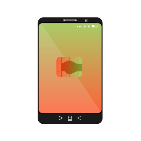 design of a smartphone with a mobile chip of contactless payment