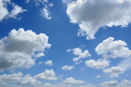 cumulus: Clouds on Blue Sky, good for background Stock Photo