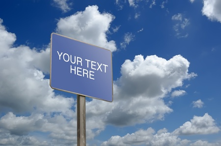 A Sign Post that you can put your text there Stock Photo - 9150127