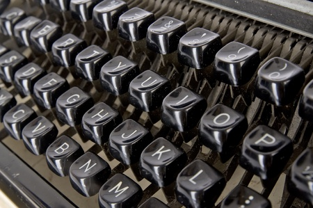 Old typewriter keyboard, shoot in the studio. Stock Photo - 9368043
