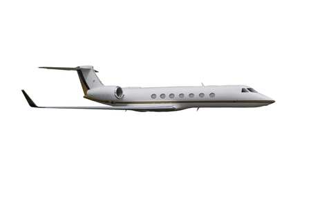 corporate jet: Private jet isolated on over white background