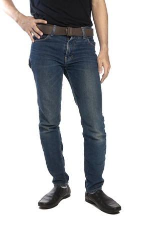 Man wearing jeans and shoes isolated over white background Stock Photo - 14679334