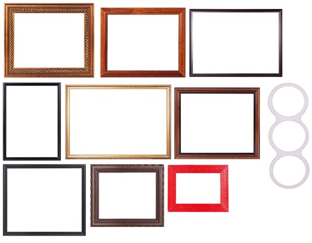 Set of picture frame isolated over white background. You can put your image inside the frame