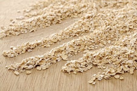 Oatmeal background. Good for healty food concept photo