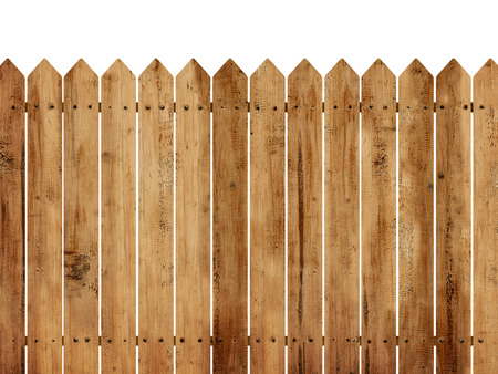 oak wood: Wooden fence background isolated over white background
