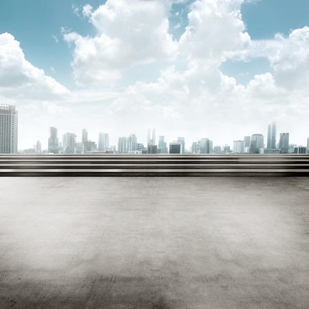 Jakarta stad achtergrond plein. U kunt uw ontwerp hier zetten