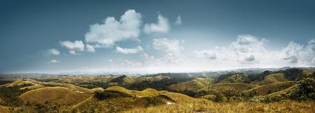 Beeld van heuvelspanorama landcape op het eiland van Sumba, Indonesië Stockfoto - 56784370