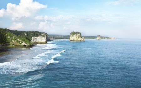 Image of rocky beach on the sumba island, indonesia Imagens