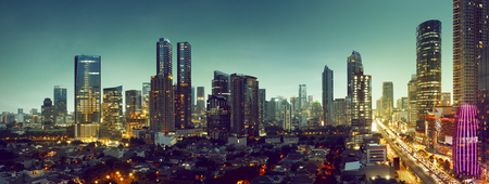 Building and traffic of Jakarta city, Indonesia