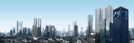 jakarta: Building and traffic of Jakarta city, Indonesia